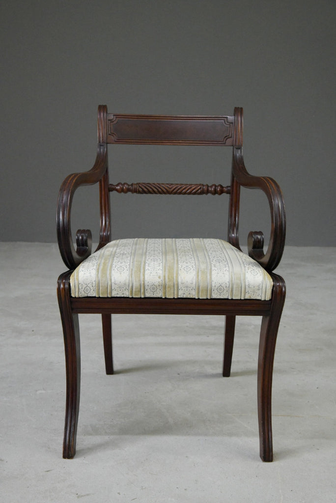 Single Mahogany Carver Chair - Kernow Furniture
