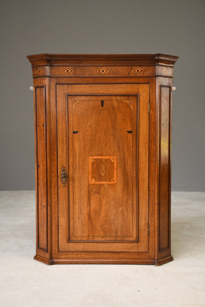 Antique Georgian Mahogany Corner Cupboard - Kernow Furniture