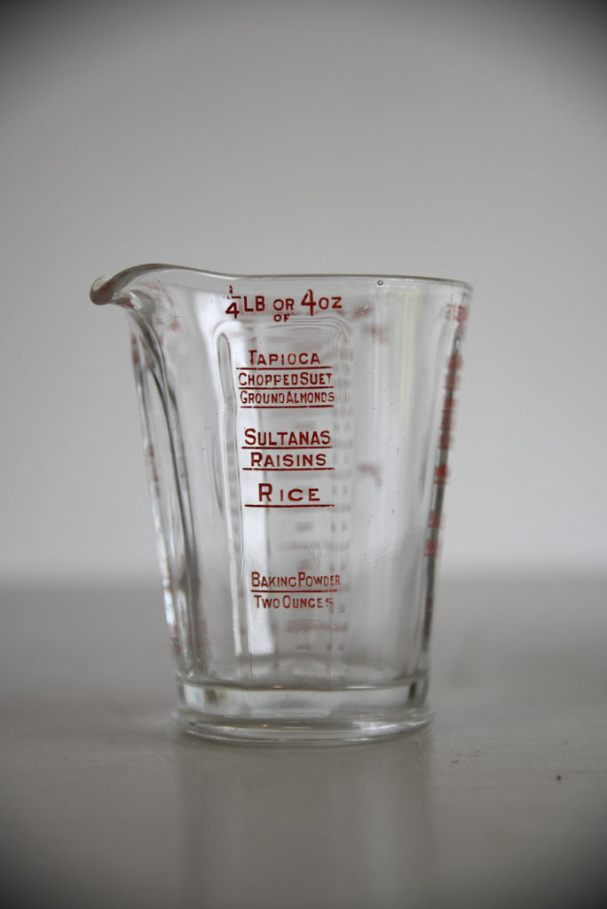 Vintage Glass Measure - Kernow Furniture