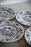 4 J & G Meakin Blue Nordic Dinner Plates - Kernow Furniture