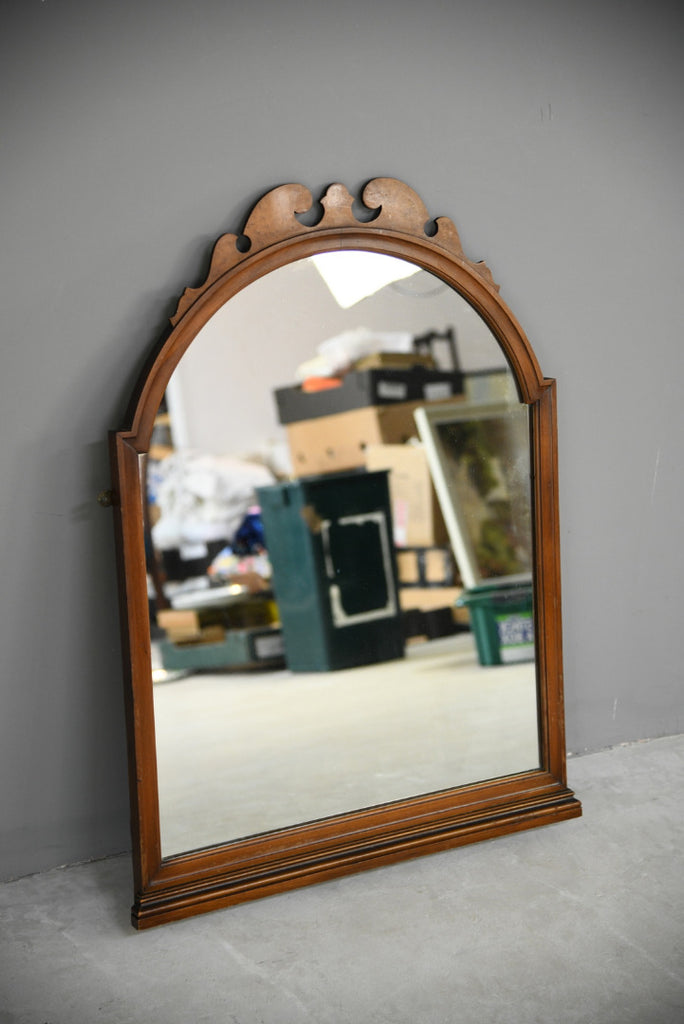 Early 20th Century Walnut Wall Mirror - Kernow Furniture
