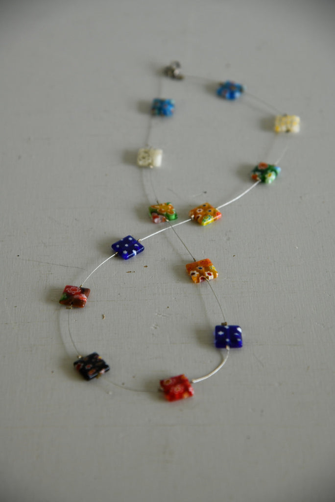 Square Glass Millefiori Necklace - Kernow Furniture