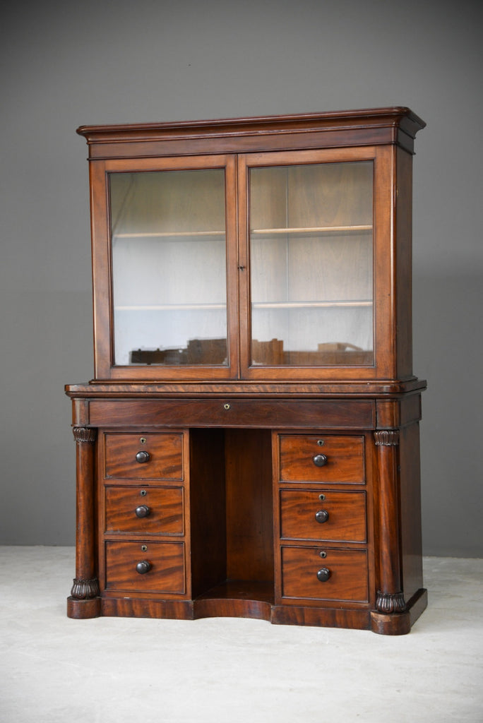 Antique Victorian Mahogany Gentlemans Dressing Table Bathroom Cabinet - Kernow Furniture