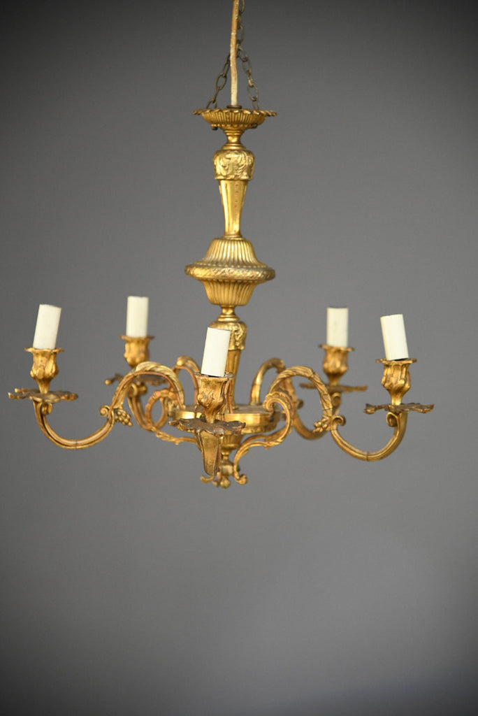 French Gilt Chandelier - Kernow Furniture