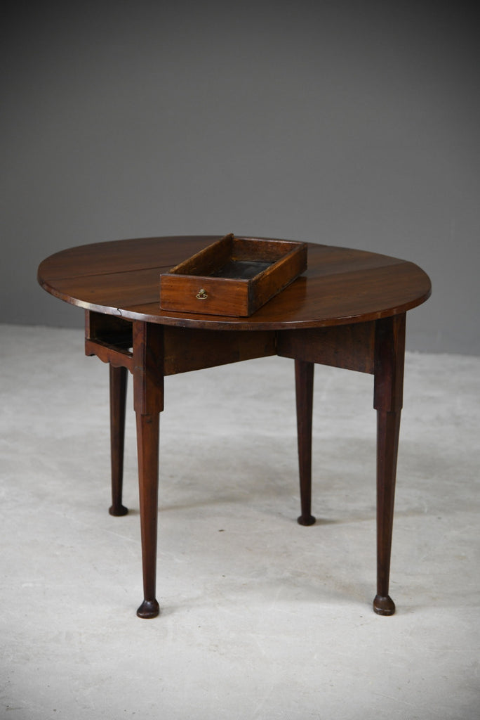 Antique Fruit Wood Drop Leaf Gate Leg Table - Kernow Furniture