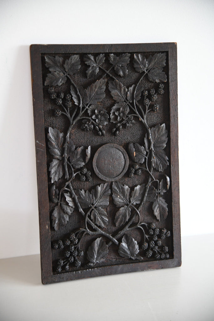 Carved Oak Panel Vines - Kernow Furniture