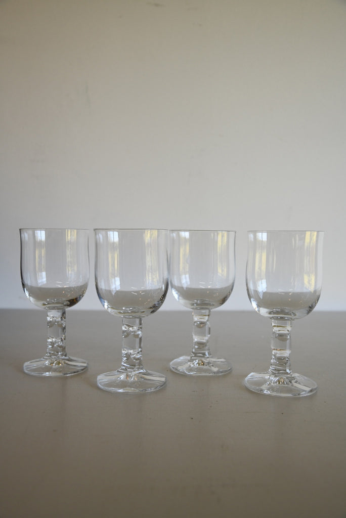 4 Quality Vintage Wine Glasses - Kernow Furniture