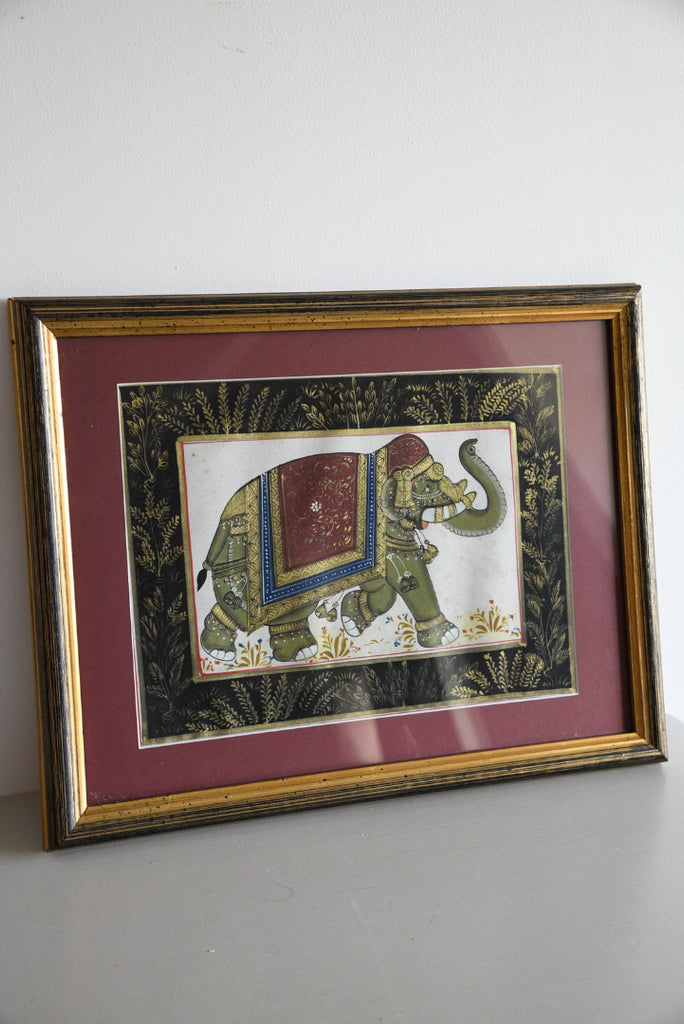 Indian Elephant on Silk - Kernow Furniture