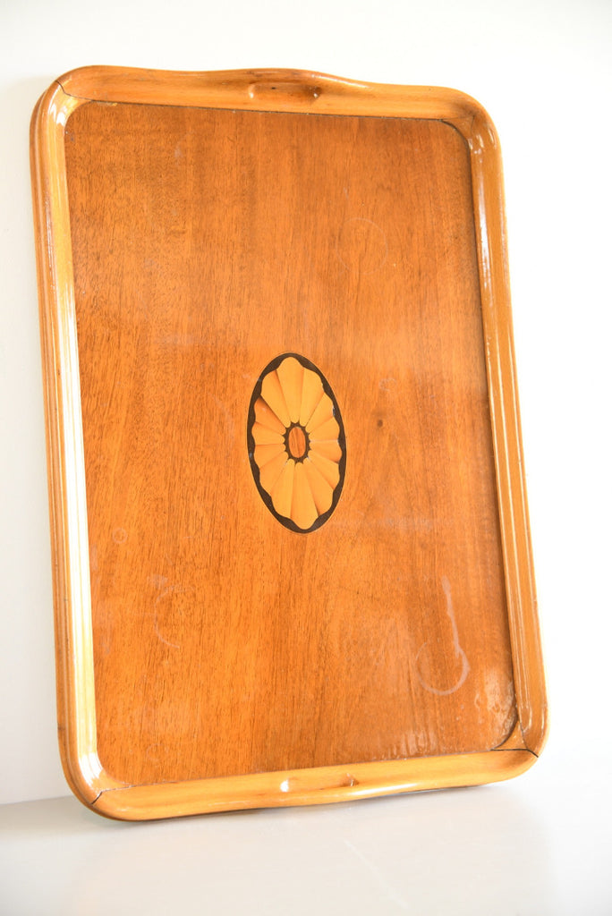 Large Marquetry Serving Tray - Kernow Furniture