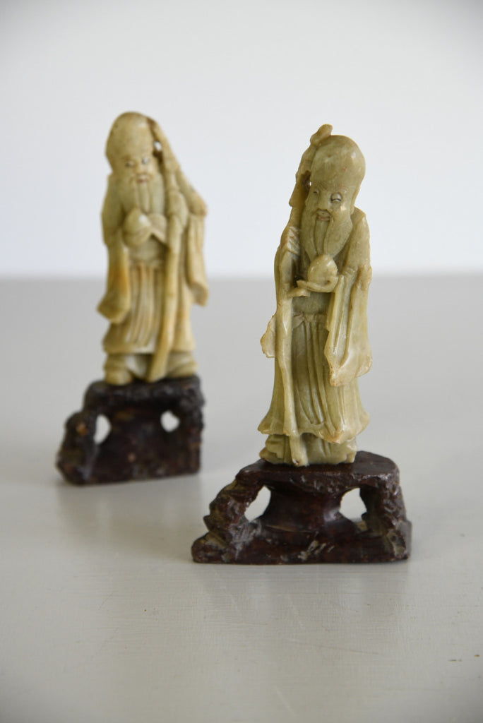 Antique Chinese Soapstone Figures - Kernow Furniture