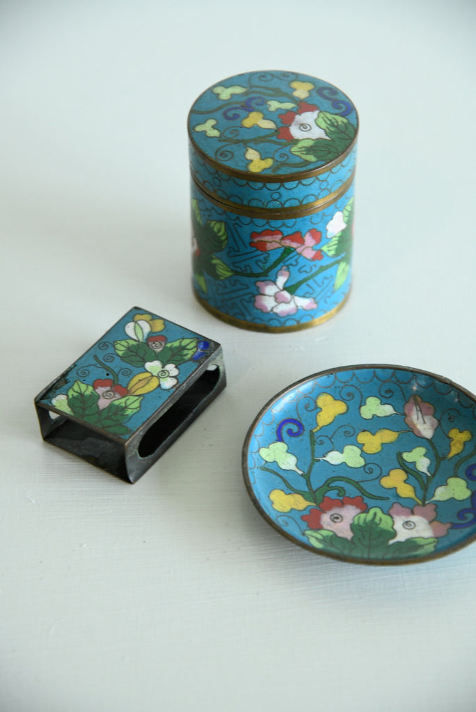 Chinese Enamel Set - Kernow Furniture