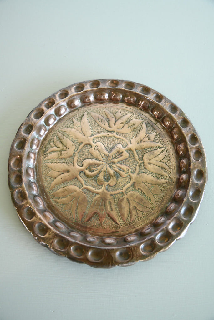 Ornamental Turkish Copper Dish - Kernow Furniture