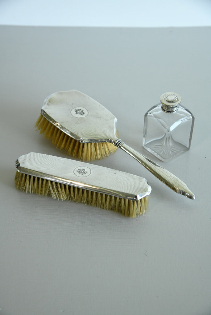 Silver Brushes & Bottle - Kernow Furniture