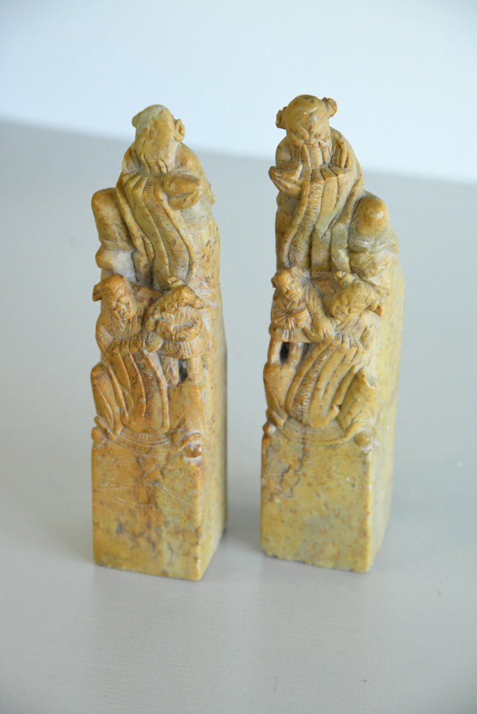 Pair Chinese Soapstone Hand Seals - Kernow Furniture