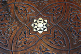 Moorish Carved Teak & Inlaid Rocking Chair
