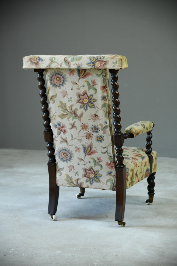 Antique Barley Twist Armchair - Kernow Furniture