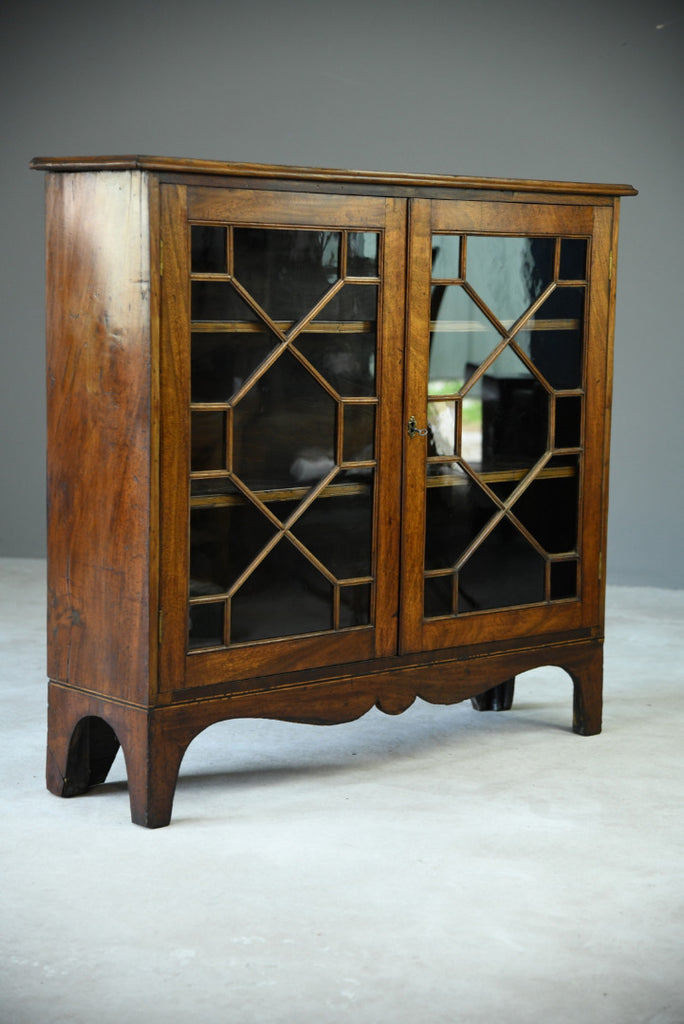 Mahogany Astragal Glazed Bookcase - Kernow Furniture