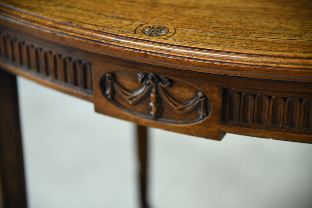 Antique Oval Centre Table - Kernow Furniture