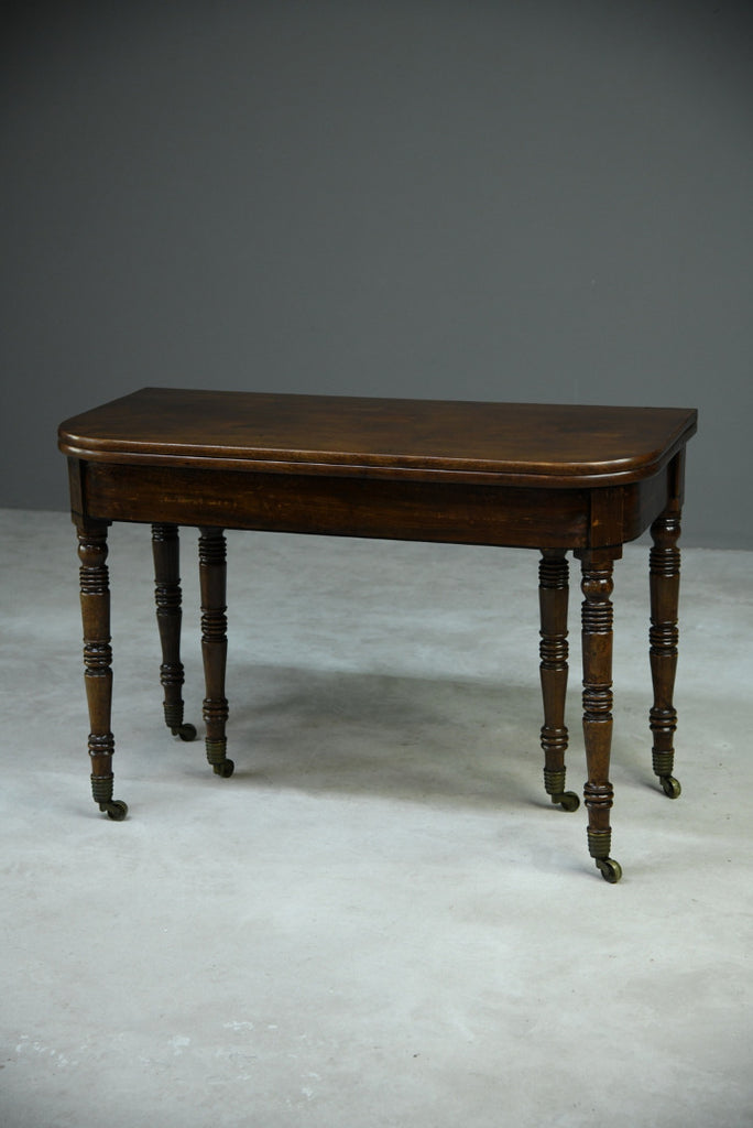 Antique Georgian Concertina Mahogany Dining Table - Kernow Furniture