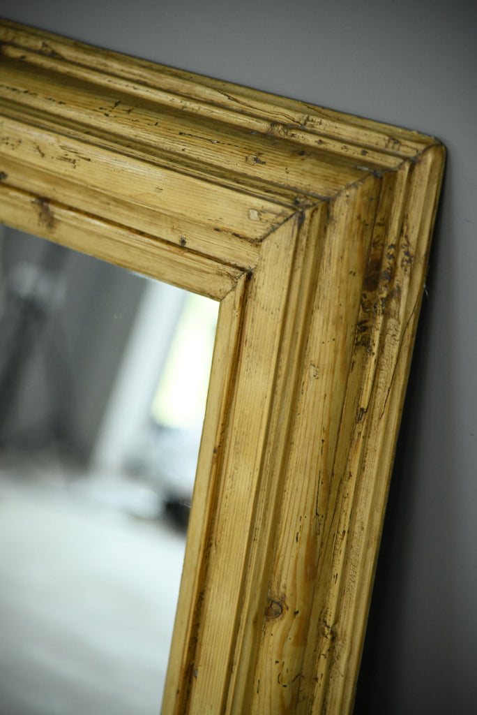 Rustic Pine Wall Mirror - Kernow Furniture