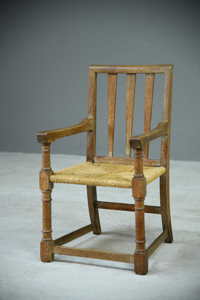 Arts & Crafts Small Oak Chair - Kernow Furniture