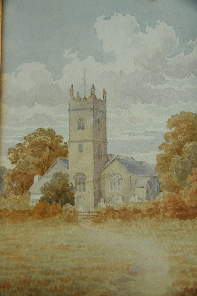 Church Watercolour Painting - Kernow Furniture