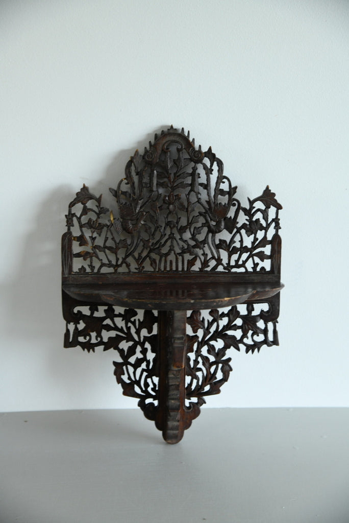 Anglo Indian Pierced & Carved Wall Bracket - Kernow Furniture