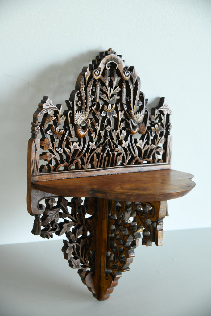 Anglo Indian Carved Wall Bracket - Kernow Furniture