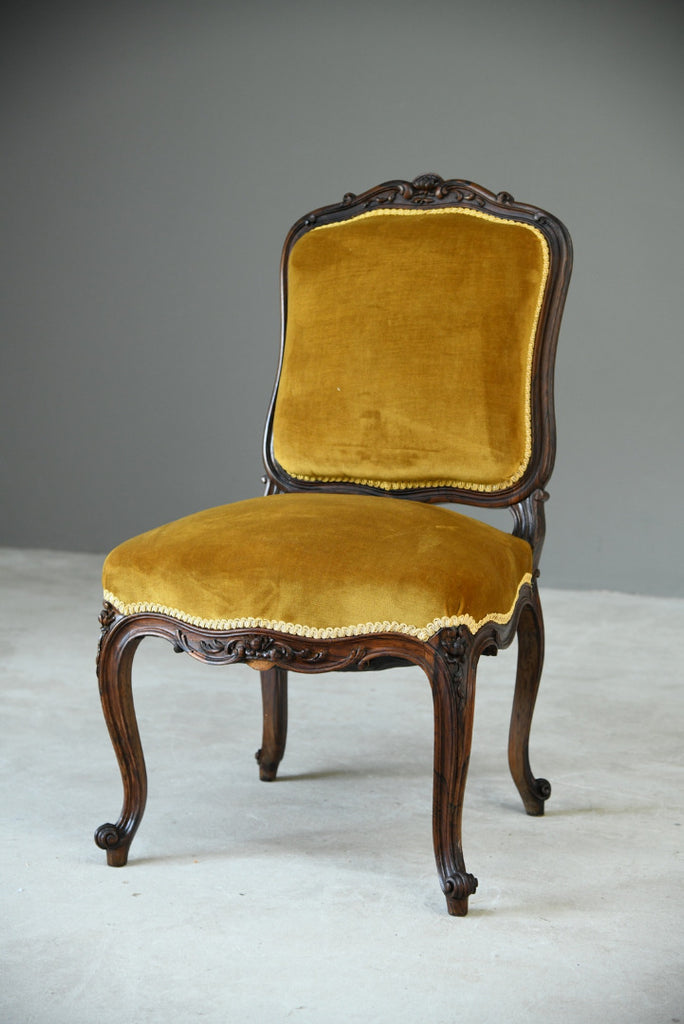 Upholstered Rosewood Occasional Chair - Kernow Furniture