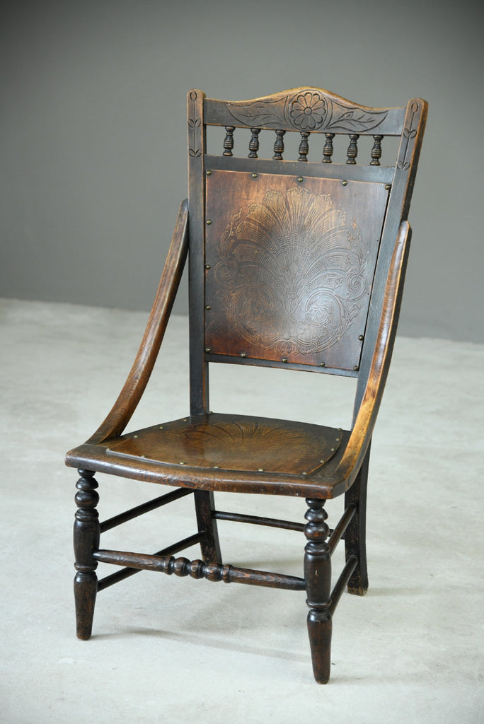 Early 20th Century Beech Occasional Chair - Kernow Furniture