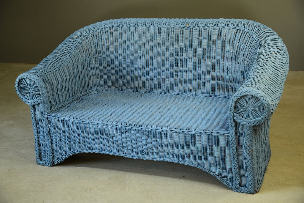 Blue Wicker Sofa - Kernow Furniture
