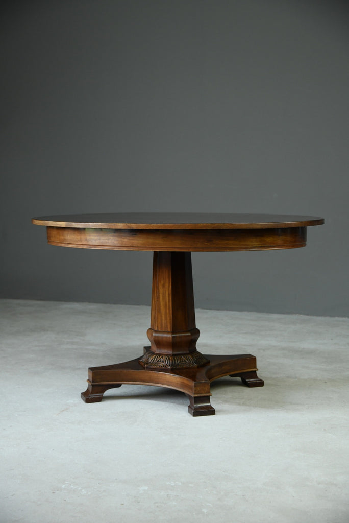 Antique Danish Mahogany Centre Table - Kernow Furniture
