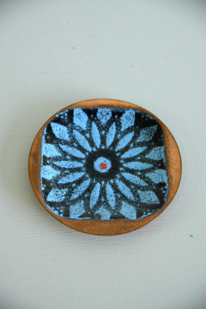 Retro Artisware Enamel on Copper Dish - Kernow Furniture