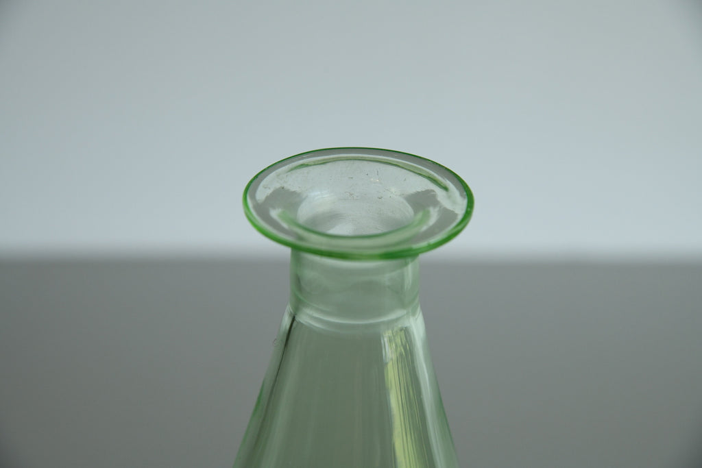 Green Glass Decanter - Kernow Furniture