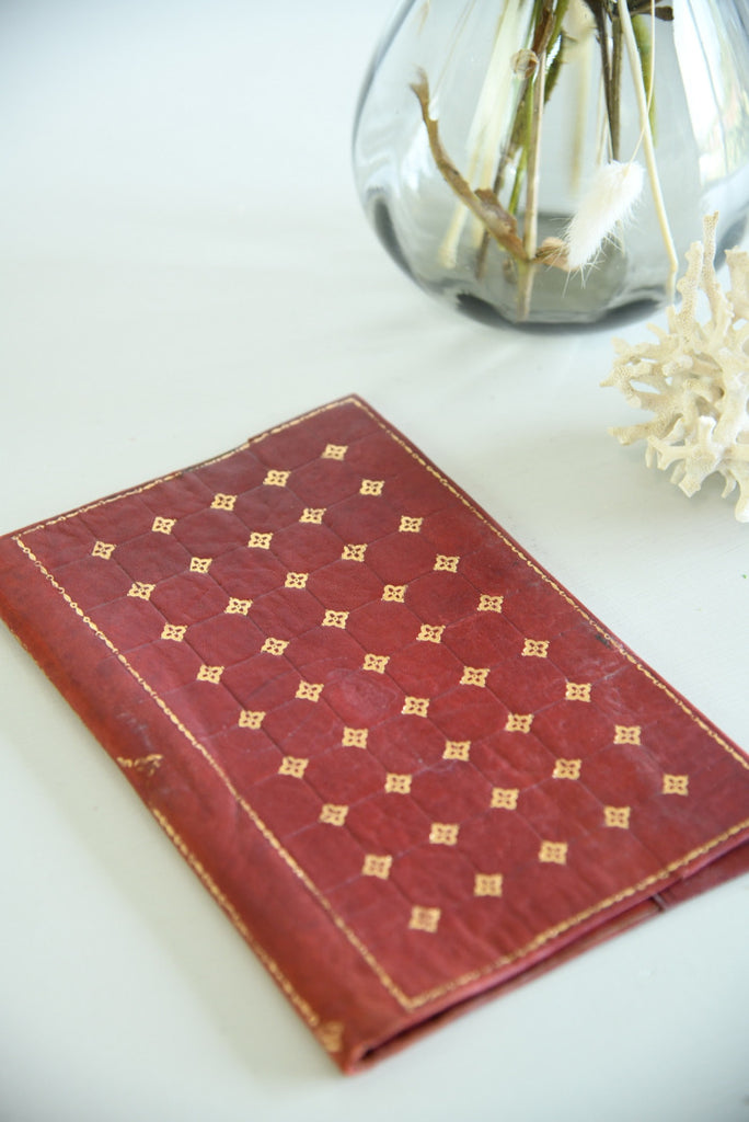 Gold & Red Leather Cover - Kernow Furniture
