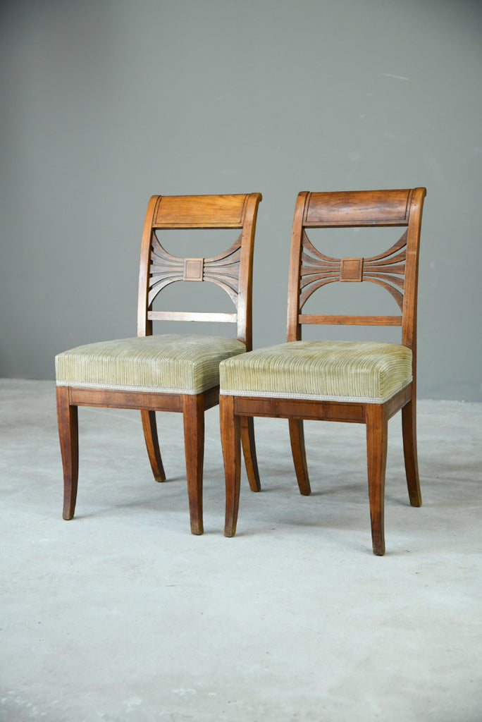 Pair Biedermeier Side Chairs