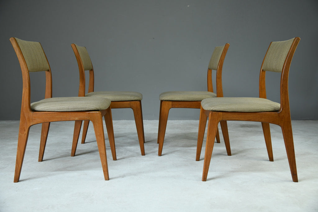 Set 4 Retro Teak Dining Chairs