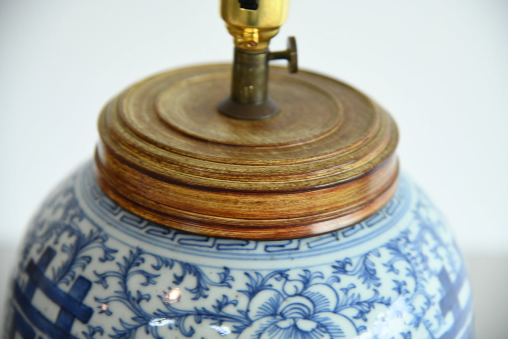 Oriental Blue & White Lamp