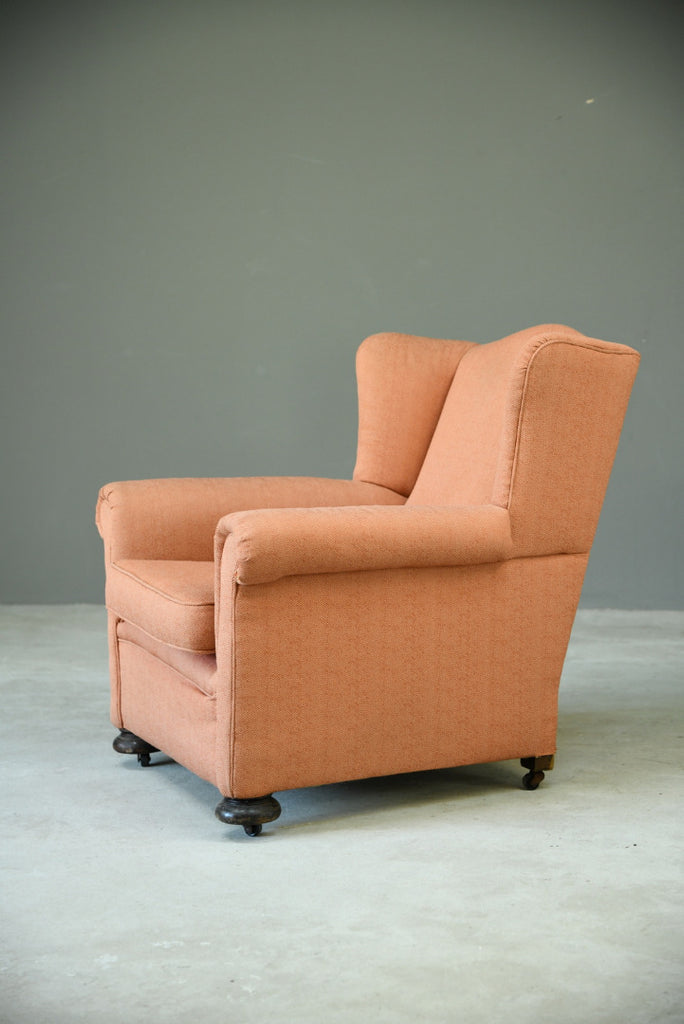 Single Upholstered Wing Back Armchair
