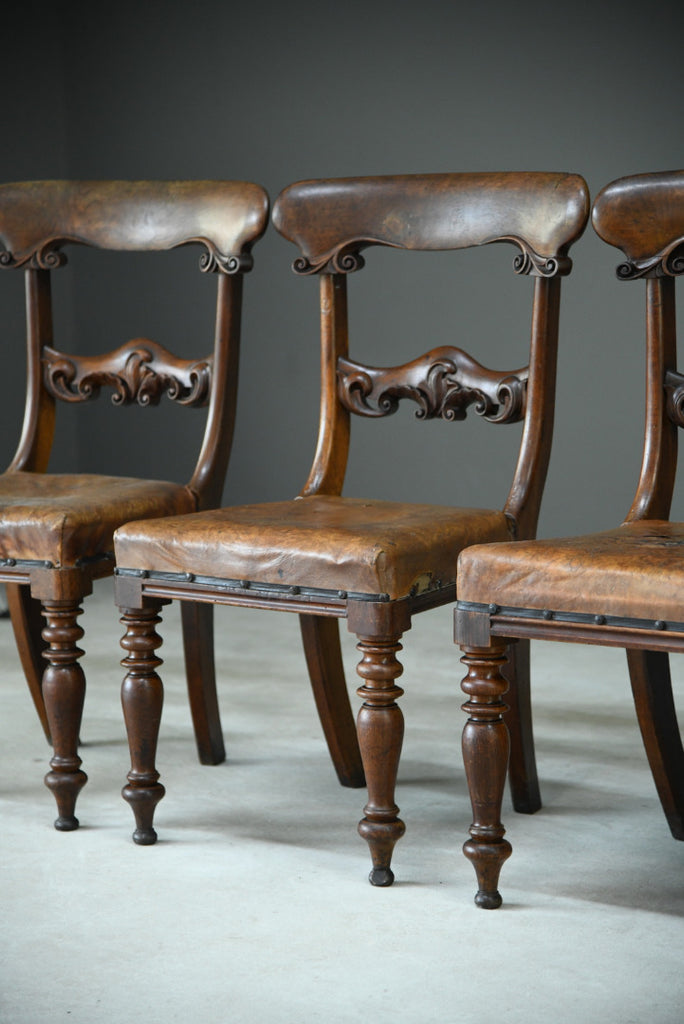 6 William IV Walnut Dining Chairs