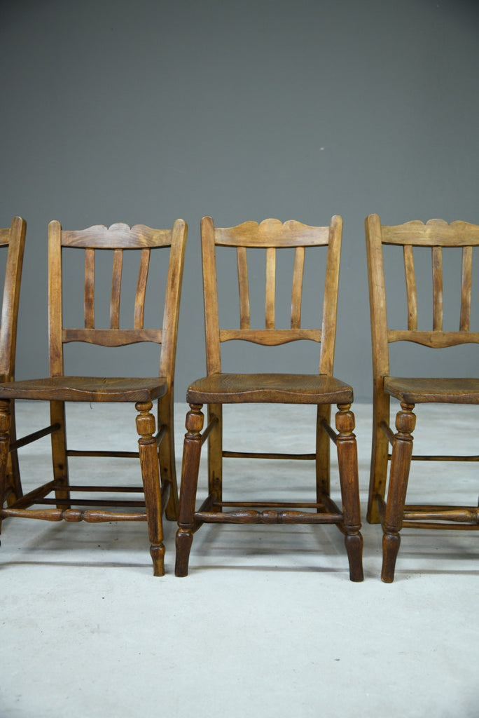 Set 4 Rustic Kitchen Chairs