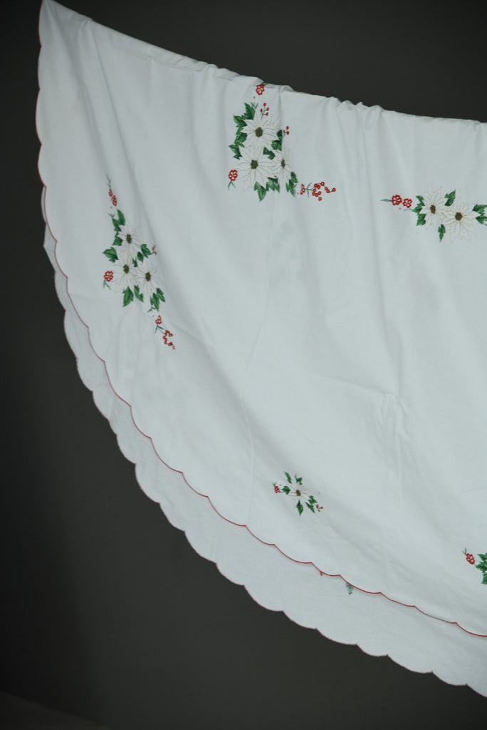 Vintage Christmas Applique Christmas Tablecloth