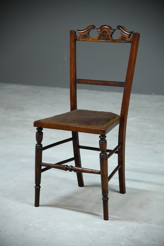 Single Victorian Walnut Occasional Chair