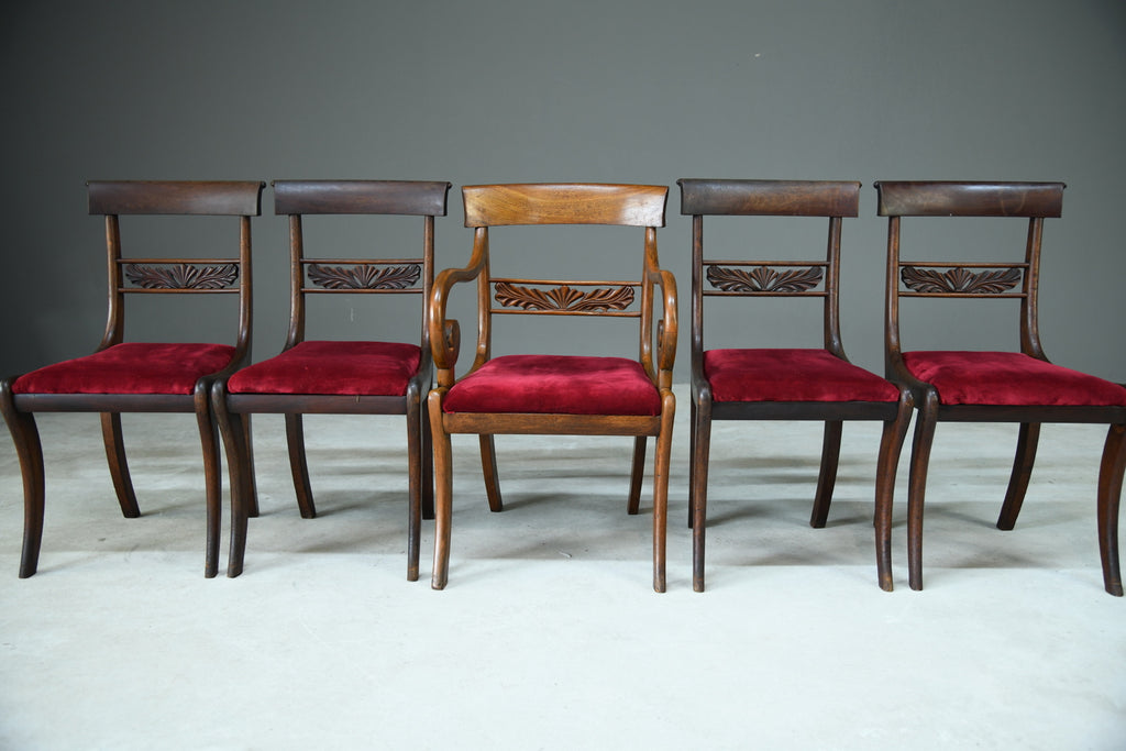 5 Antique Dining Chairs