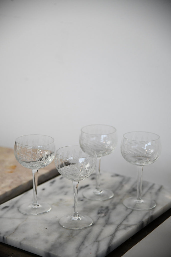 4 Vintage Art Deco Champagne Coupe Kernow Furniture