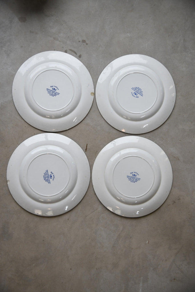 4 Old Willow Dinner Plates