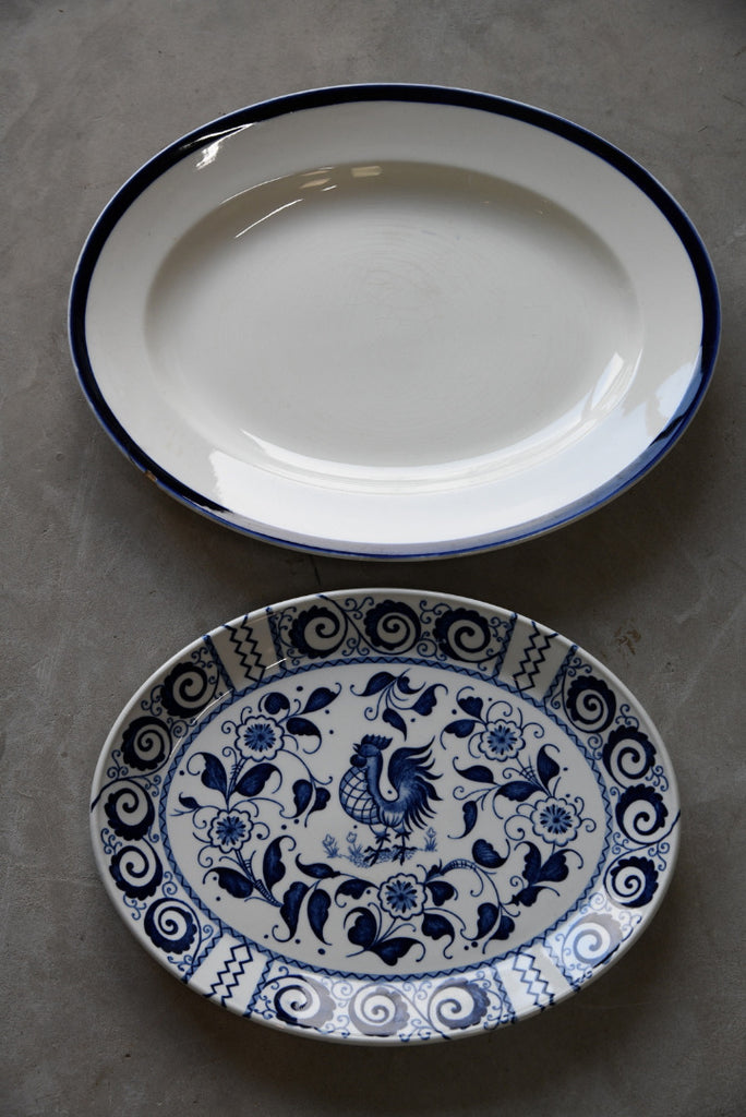 2 Oval Serving Plates