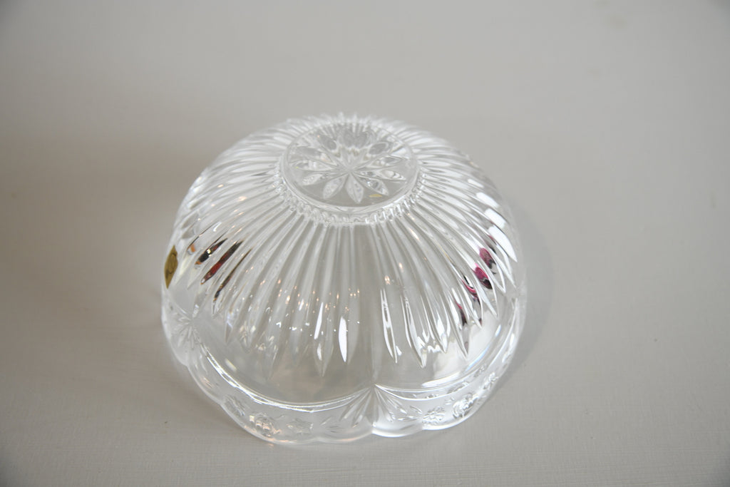 Bleikristall Floral Glass Bowl