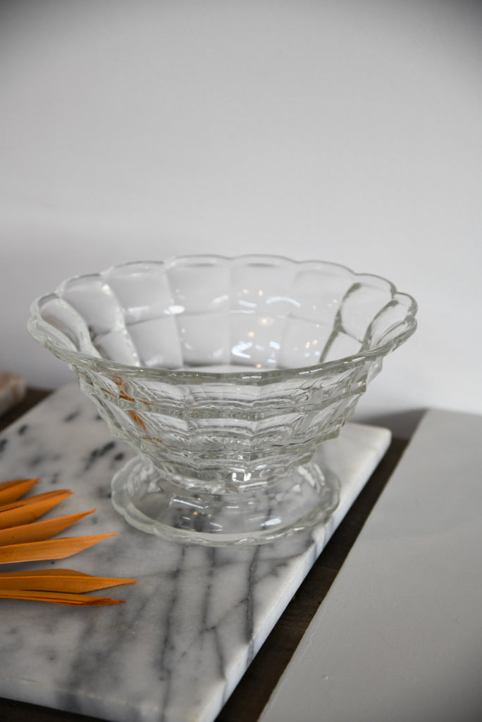 Large Scalloped Edge Glass Bowl