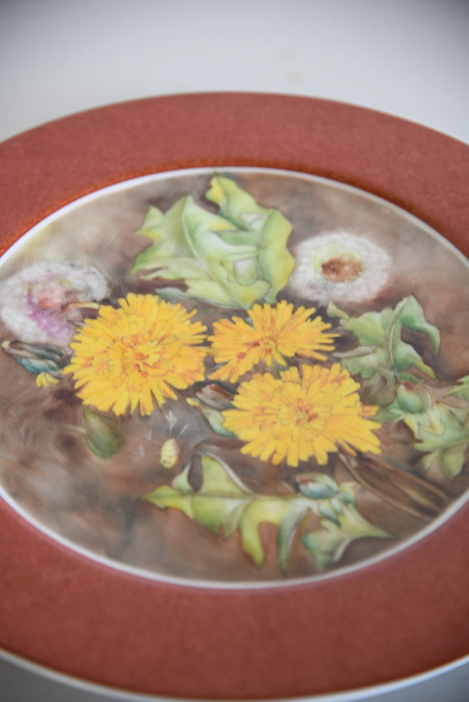 Royal Worcester Hand Painted Porcelain Plate